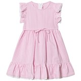 Il Gufo Light Pink Frill Sleeve Dress