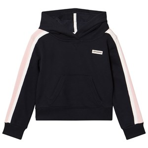 Converse Navy and Pink Cropped Hoodie 6-7 years
