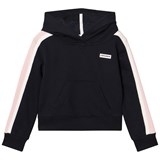 Converse Navy and Pink Cropped Hoodie