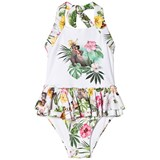 Monnalisa Jungle Book Halterneck Frill Swimsuit