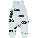 Little Man Happy Blue Black I Can See You Print Romper