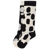 Little Man Happy White And Black Patterned Socks