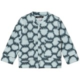 Little LuWi Blue Snake Print Bomber jacket