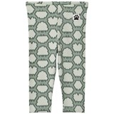 Little LuWi Green Snake Print Leggings