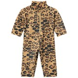 Mini Rodini Beige Leopard UV Rash Suit