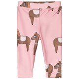 Mini Rodini Pink Horse Fancy Swim Leggings