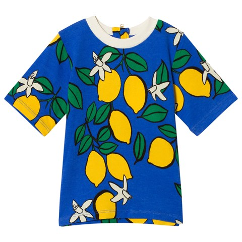 Mini Rodini Blue Lemon Zip Short Sleeve T-Shirt