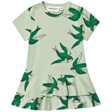Mini Rodini Green Swallows Frill Dress