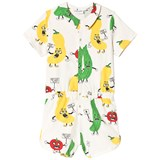 Mini Rodini White Veggie Summersuit