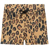 Mini Rodini Beige Leopard Swim Shorts
