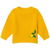 Mini Rodini Yellow Lemon Knitted Sweater