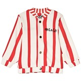 Mini Rodini Red And White Salvador Reversible Sweat Jacket