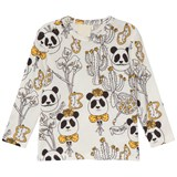 Mini Rodini Black White and Yellow Panda Print Salvador T-Shirt