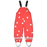 Mini Rodini Red Edelweiss High Rain Pants