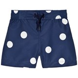 Mini Rodini Navy Dot Swim Shorts