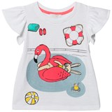Livly White And Pink Flamingo T-Shirt