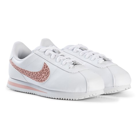 premium selection 6c631 67d74 ... Classic Cortez Leopard Print Shoes Nike White and Pale Pink Nike Cortez  Basic Shoes ...