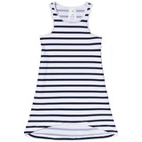 Snapper Rock Navy and White Stripe Sleeveless Swim Dress