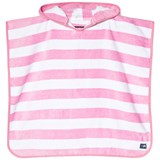 Snapper Rock Pink and White Stripe Hooded Towel