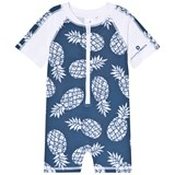 Snapper Rock Navy and White Pineapple Print Sunsuit