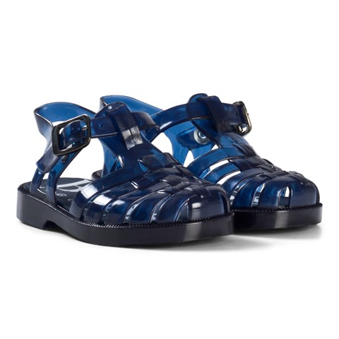BOSS Navy Branded Jelly Shoes