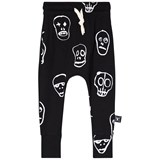 NUNUNU Black Skull Mask Baggy Pants