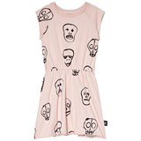NUNUNU Powder Pink Skull Mask Dress