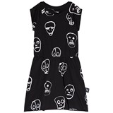 NUNUNU Black And White Skull Mask Dress