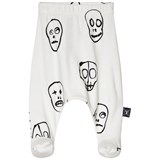 NUNUNU White Skull Mask Footed Leggings