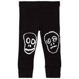 NUNUNU Black Skull Mask Patch Leggings