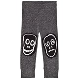NUNUNU Charcoal Skull Mask Patch Leggings