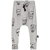 NUNUNU Heather Grey Skull Mask Baggy Leggings
