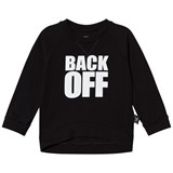 NUNUNU Black Back Off Top