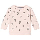 One We Like Soft Pink Hearts Basic Sweater