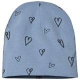 One We Like Faded Denim Blue Hearts Hat