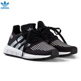 adidas Originals Black and Silver Swift Run Kids Trainers