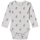One We Like Vapour Grey Peace Long Sleeve Baby Onesie