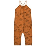 Sproet and Sprout Rust Puffer Fish Print Jumpsuit