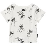Sproet and Sprout White Jellyfish Print T-Shirt