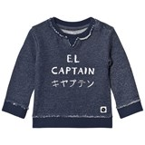 Sproet and Sprout Navy Marl El Captain Print Sweater