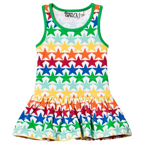 Boys & Girls Multicoloured Star Print Jersey Dress