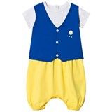 The Tiny Universe Blue And Yellow Swede Babygrow