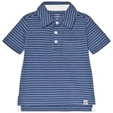 Gap Dockside Blue Striped Polo Top
