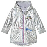 Little Marc Jacobs Silver Holographic Parka with Branded Patch