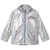 Little Marc Jacobs Silver Holographic Branded Water Resistant Jacket