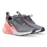 Nike Grey and Pink Nike Air Max 270 Shoes