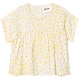 Blune White And Yellow Soleil Party Blouse