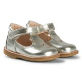 Angulus Gold Metallic Heart Detail T Bar Shoes