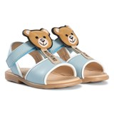 Moschino Pale Blue Bear Lolly Sandals