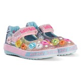 Lelli Kelly Pink And Blue Multi Glitter Millesoli Flower Applique Baby Dolly Shoes